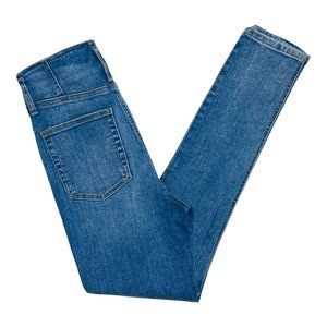 Happy X Nature Women Size 2 Medium Wash Ultra High Rise Button Fly Skinny Jeans